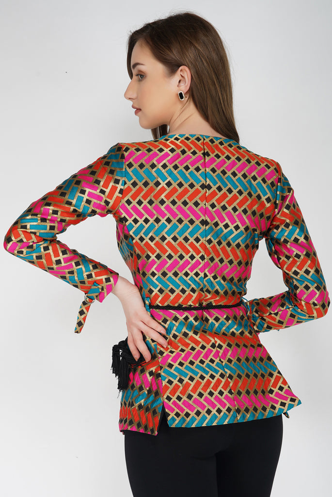 Tailored Wrap Co-ord Blazer With Belt From Nesavaali London