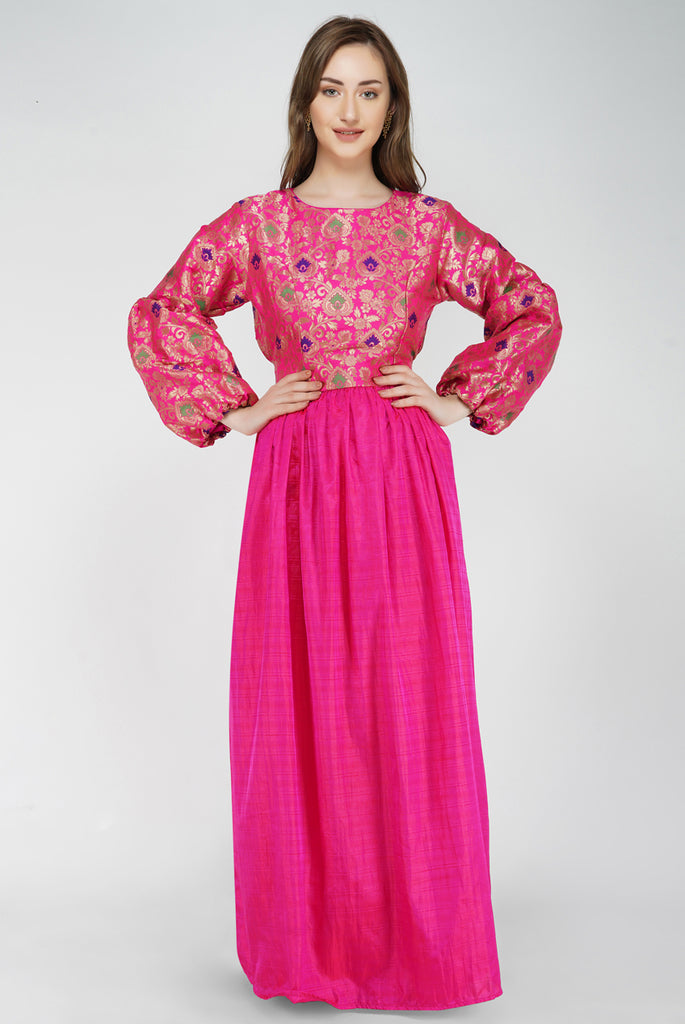 Bishop Sleeve Dramatic Maxi Dress From Nesavaali London