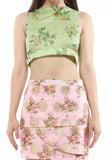 SLEEVELESS CROP TOP WITH CUT WAIST FROM NESAVAALI LONDON