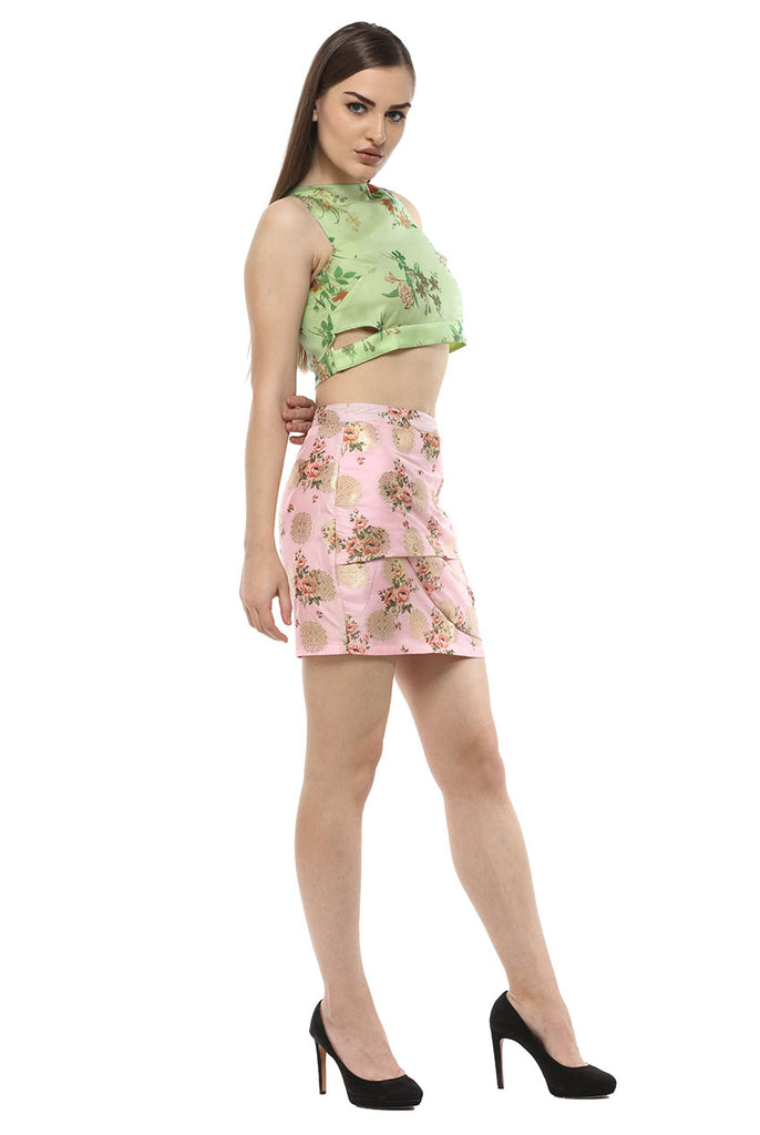 MINI BROCADE PARTY SUMMER SKIRT FROM NESAVAALI LONDON