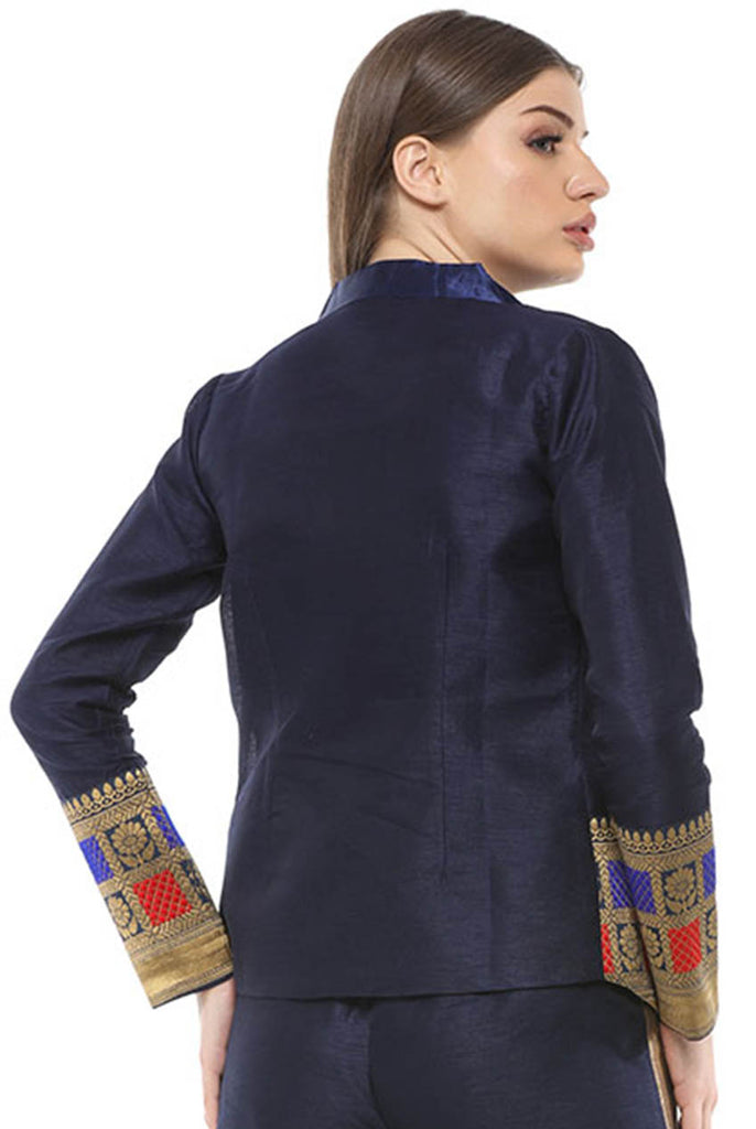 Fusion Sustainable Ladies Long Sleeves Formal Fitted Blazer From Nesavaali London