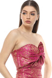 Party Glamorous Bandeau Brocade Bow Tie Top From Nesavaali London
