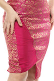 Ladies Cross Over Pencil Fit Sheath Skirt From Nesavaali London