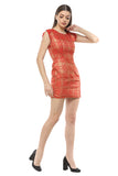 Party Shimmer Sheath Bright Mini Dress From Nesavaali London