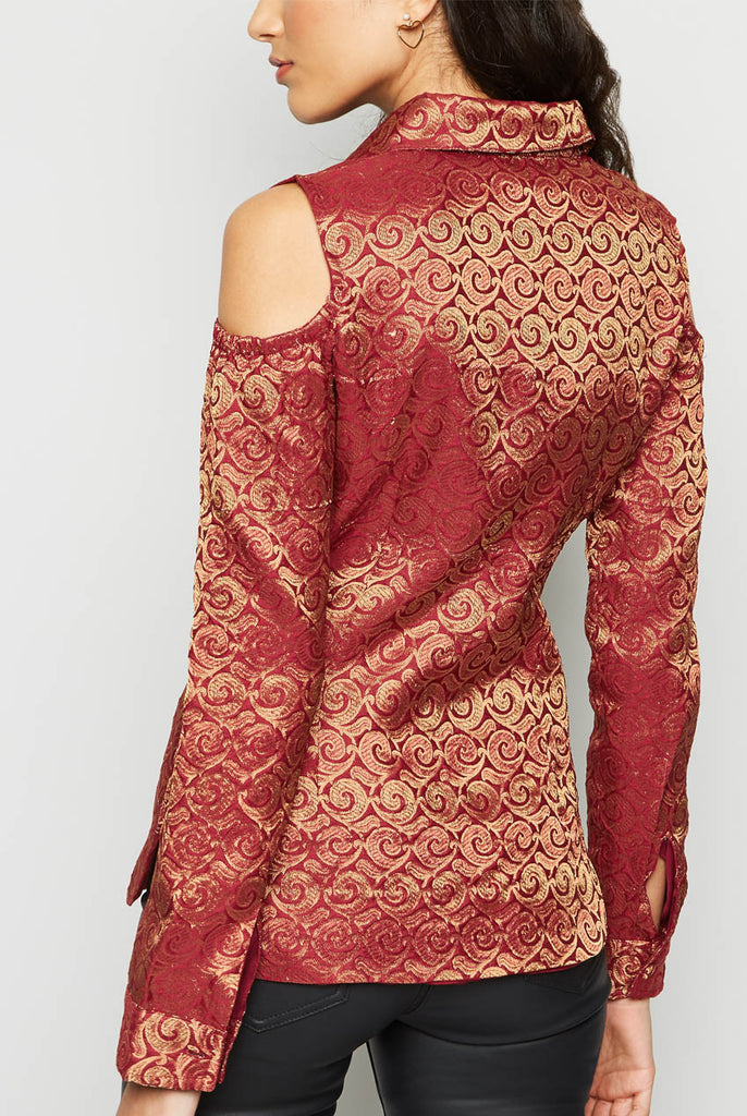 COLD SHOULDER SHIRT FROM NESAVAALI LONDON