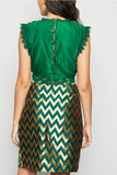 Wrap Midi Cross Over brocade Skirt From Nesavaali London