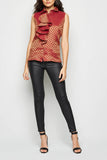 Ruffle Brocade Sleeveless Blouse From Nesavaali London