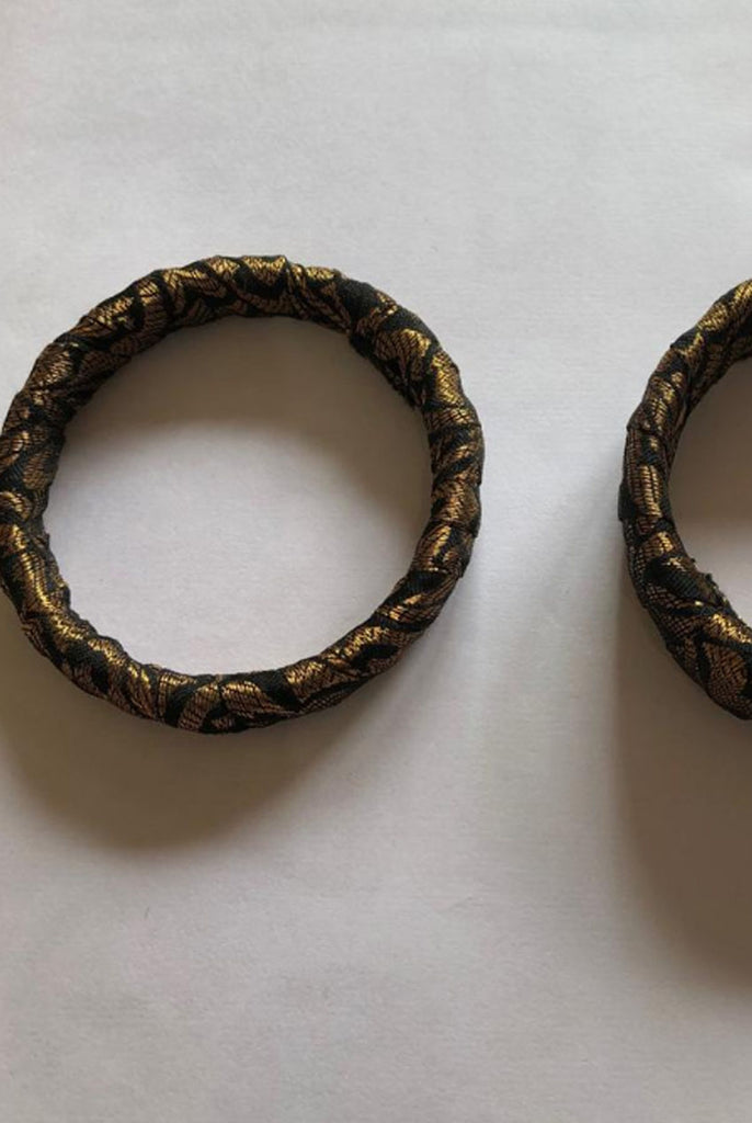 Handmade Fashion Pair of Bangles From AW19 Production Wastage From Nesavaali London