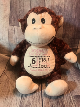 Load image into Gallery viewer, Birth Announcement Monkey - Klassy Kreations Fl