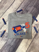 Load image into Gallery viewer, Nerf Birthday T-shirt - Klassy Kreations Fl