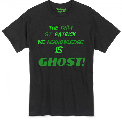 Millennials Finest Ghost St. Patrick Mens T-Shirt (Worded)