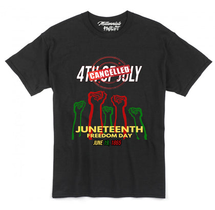 Millennials Finest Juneteenth Freedom Day Unisex Tees