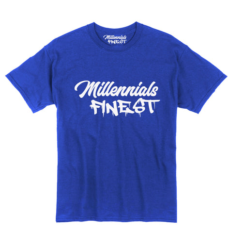 Millennials Finest Signature Blue Tee