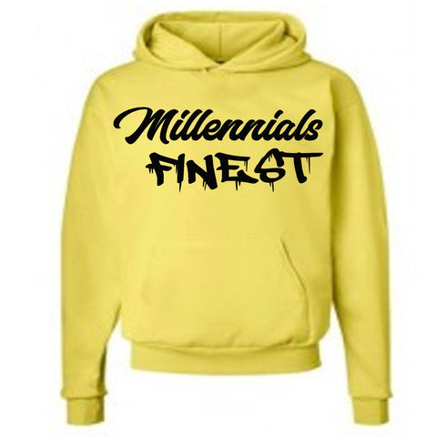 Millennials Finest Signature Pullover Yellow Hoodie