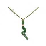 Green Tassel Farrago Necklace