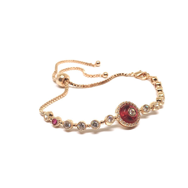 Evil Eye Red Toggle Bracelet