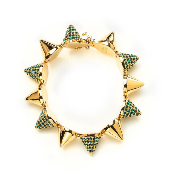 Alternating Pave Cone Bracelet