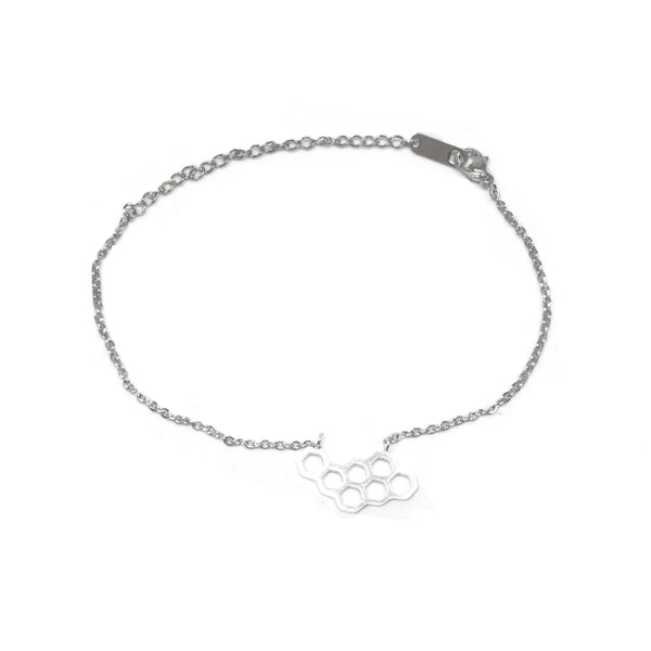 Honey Comb Silver Bracelet