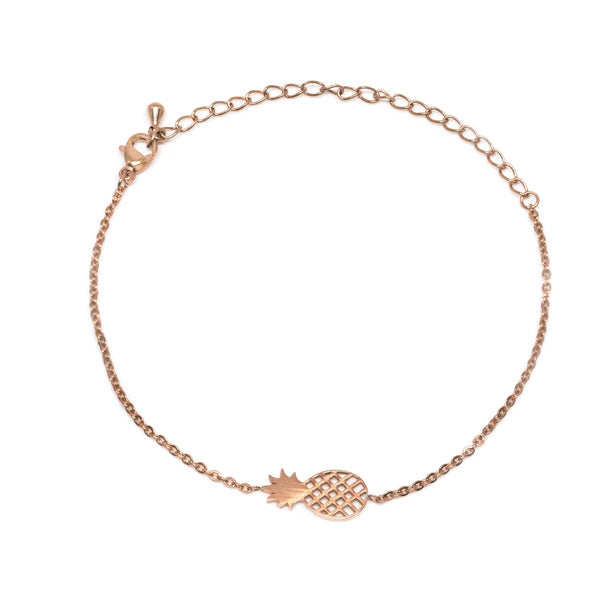 Pineapple Rose Gold Bracelet