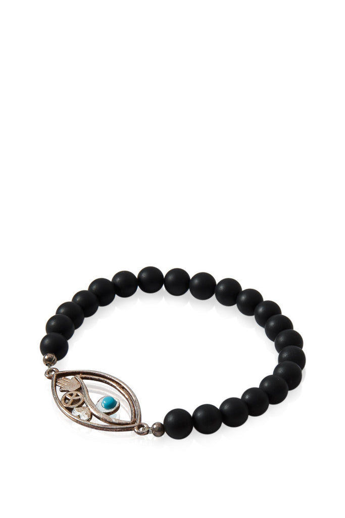 Double Evil Eye Beaded Bracelet