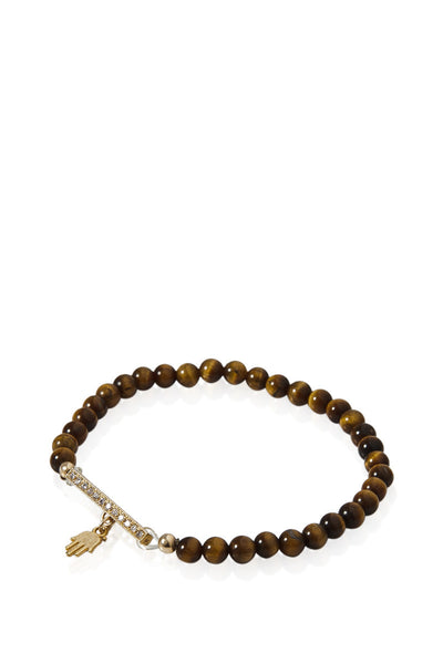 Hamsa Bar Beaded Bracelet