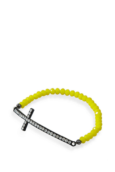 Cross Beaded Bracelet