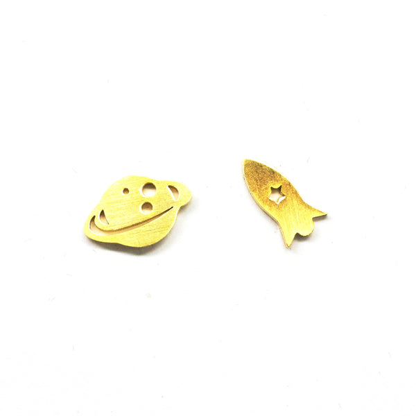 Rocket Gold Earrings
