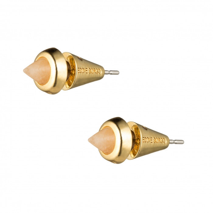Small Gemstone Cone Stud