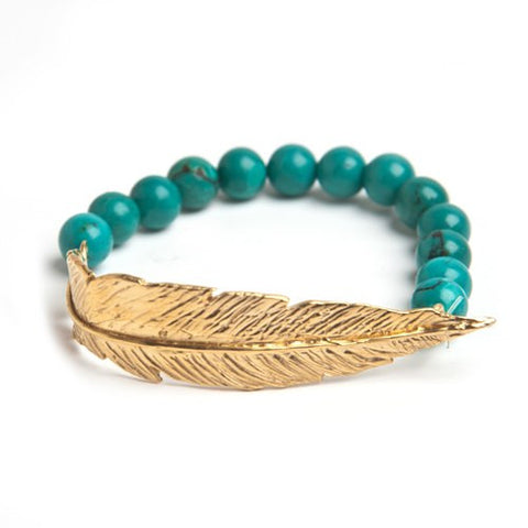 Feather Beaded Bracelet