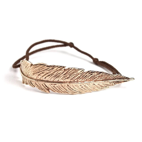 Feather String Bracelet