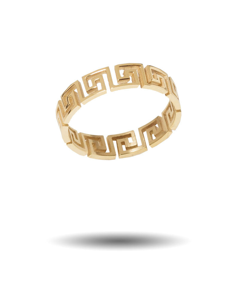 Mr. Greek Cut Out Ring