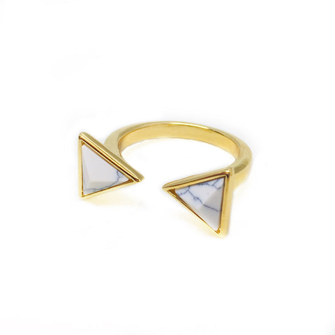 Marble Triangle Ring