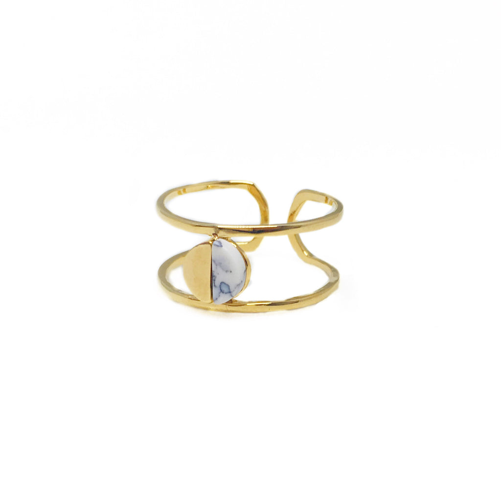 Half Marble Ring