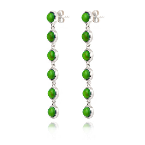 Jacks Cascade Green Turquoise Earrings
