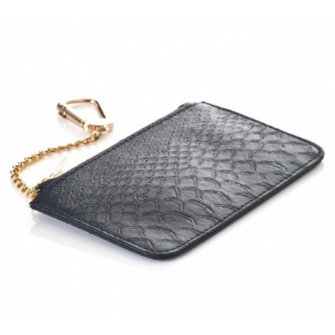 Mr. Stevin Gold Python Pouch