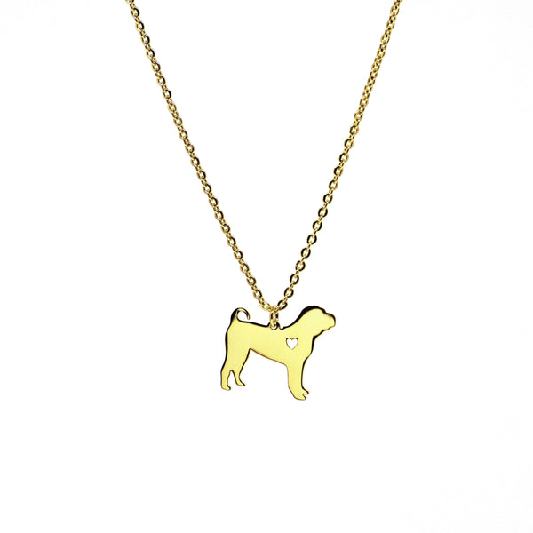 Puppy Gold Necklace