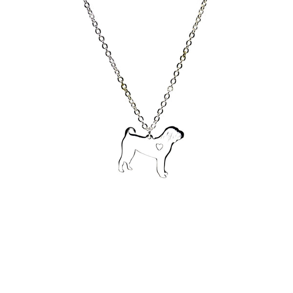 Puppy Silver Necklace