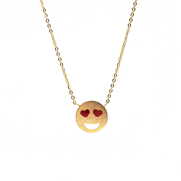In Love Emoji Gold Necklace