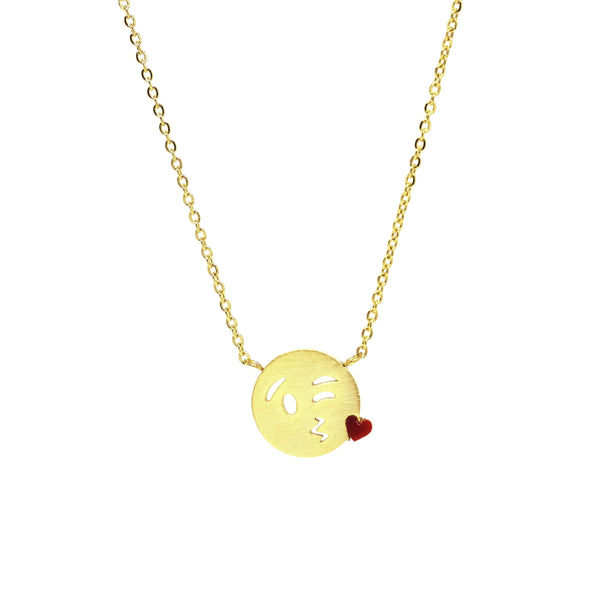 Kisses Emoji Necklace