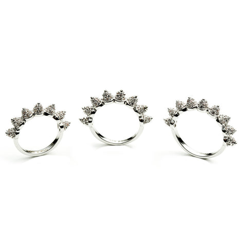 Pave Eternity Cone Ring Set
