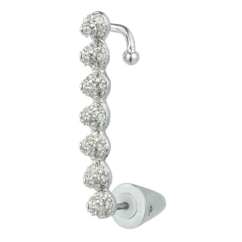 Pave Tiny Cone Ear Cuff