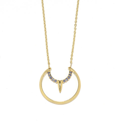 Pave Arc Necklace