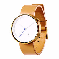 POLYGON WATCH (PVD Gold / Brown Leather)