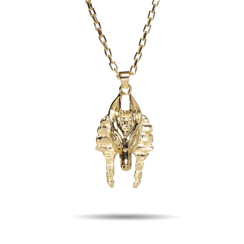Mr. Micro Anubis Gold Necklace