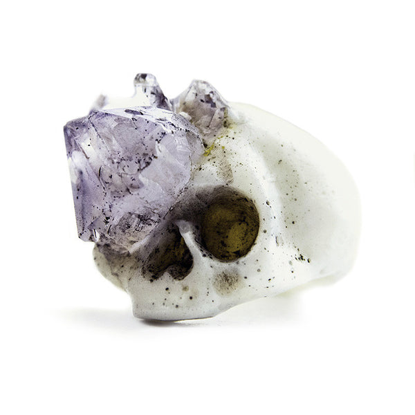 AMYTHEST GROWTH SKULL RING