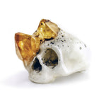 CITRINE GROWTH SKULL RING