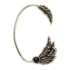 Onyx Feather Ear Cuff