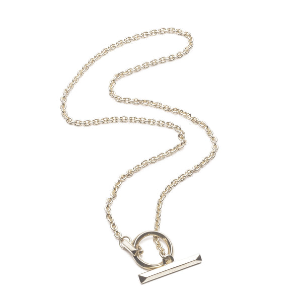 O-Ring Toggle Necklace Silver