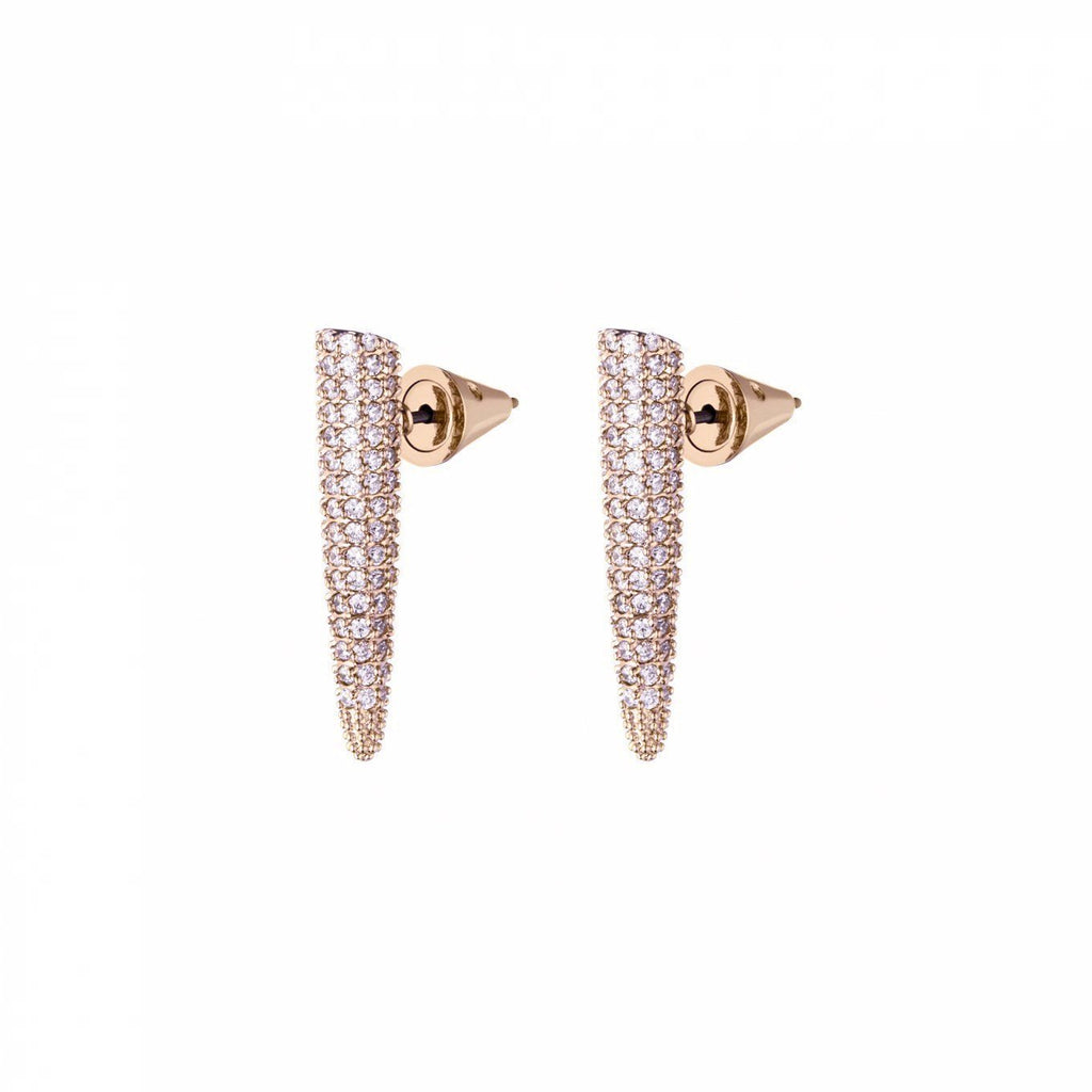 Mini Pave Spike Earring