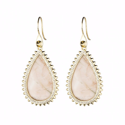 Small Pave Teardrop Earring
